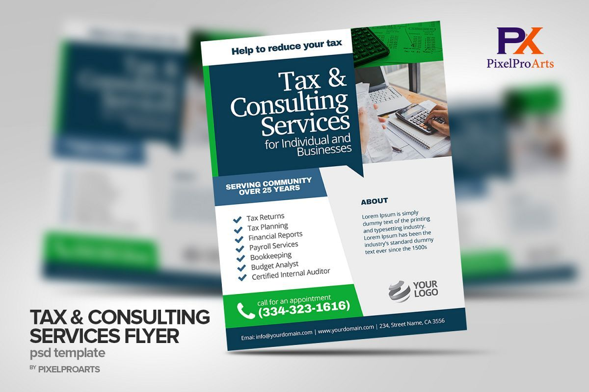Tax Consulting Services Flyer Poster Template 200181 Flyers Design Bundles Tax Consulting Poster Template Flyer