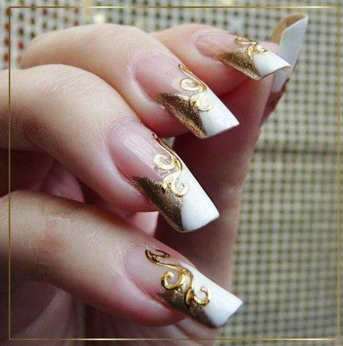 Check Out Katarina Vitazovas Party Christmas French Nails Art