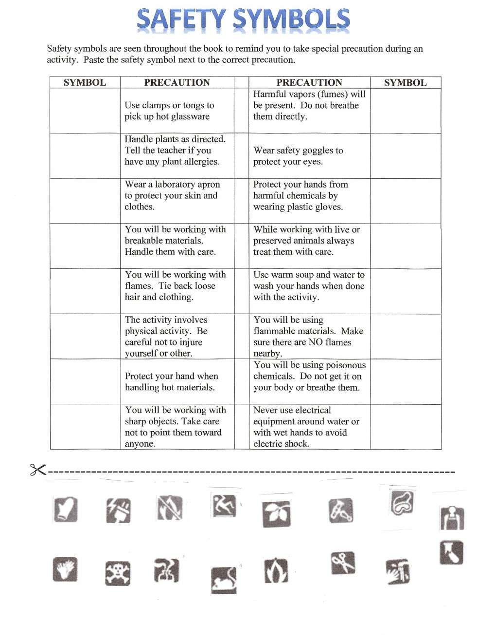 8+ Safe Science Lab Safety Awareness Worksheet Science