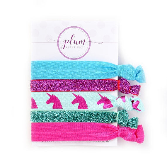 Unicorn Hair Ties 385b25361e4