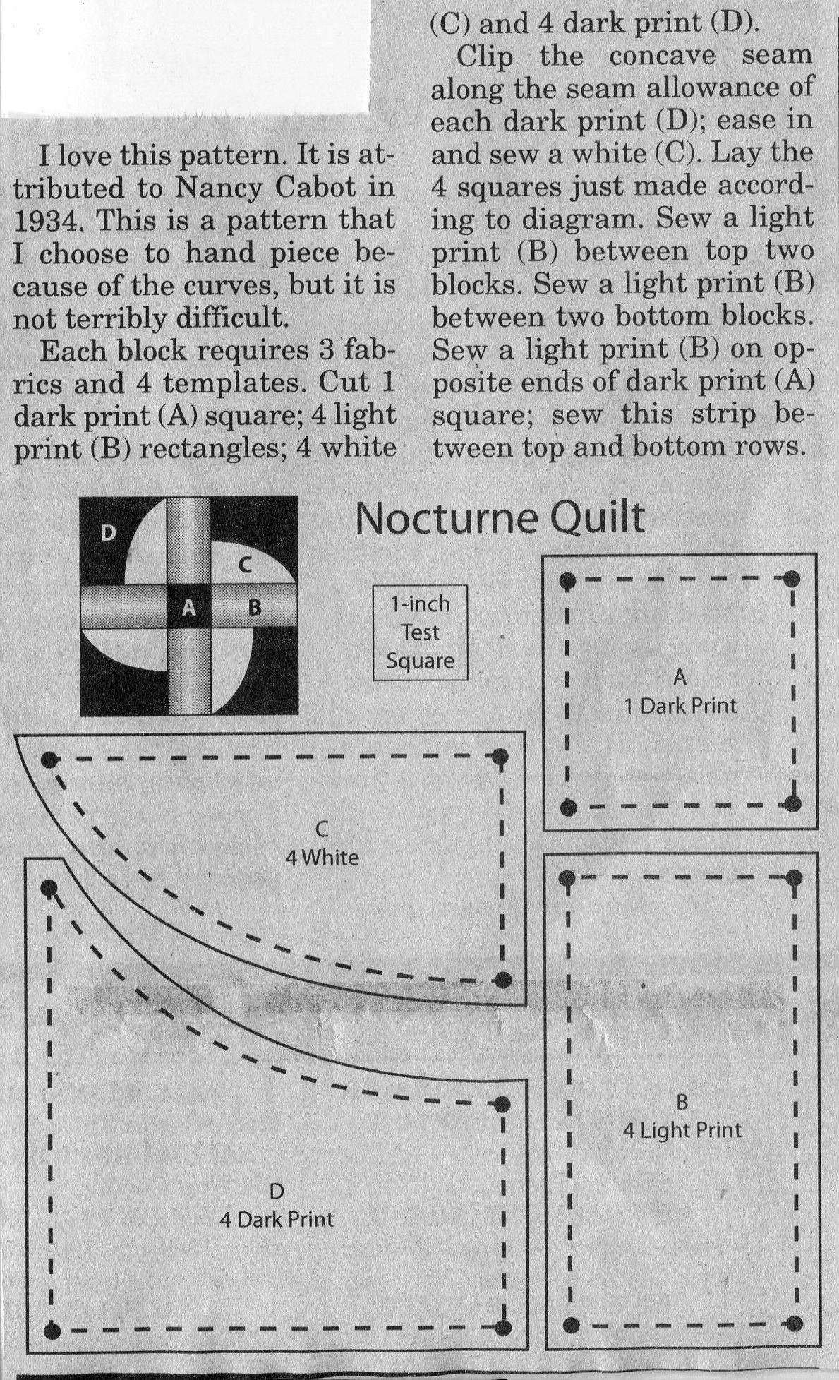 Nocturne Quilt Block | Quilt | Pinterest | Quiltblöcke und Steppdecke