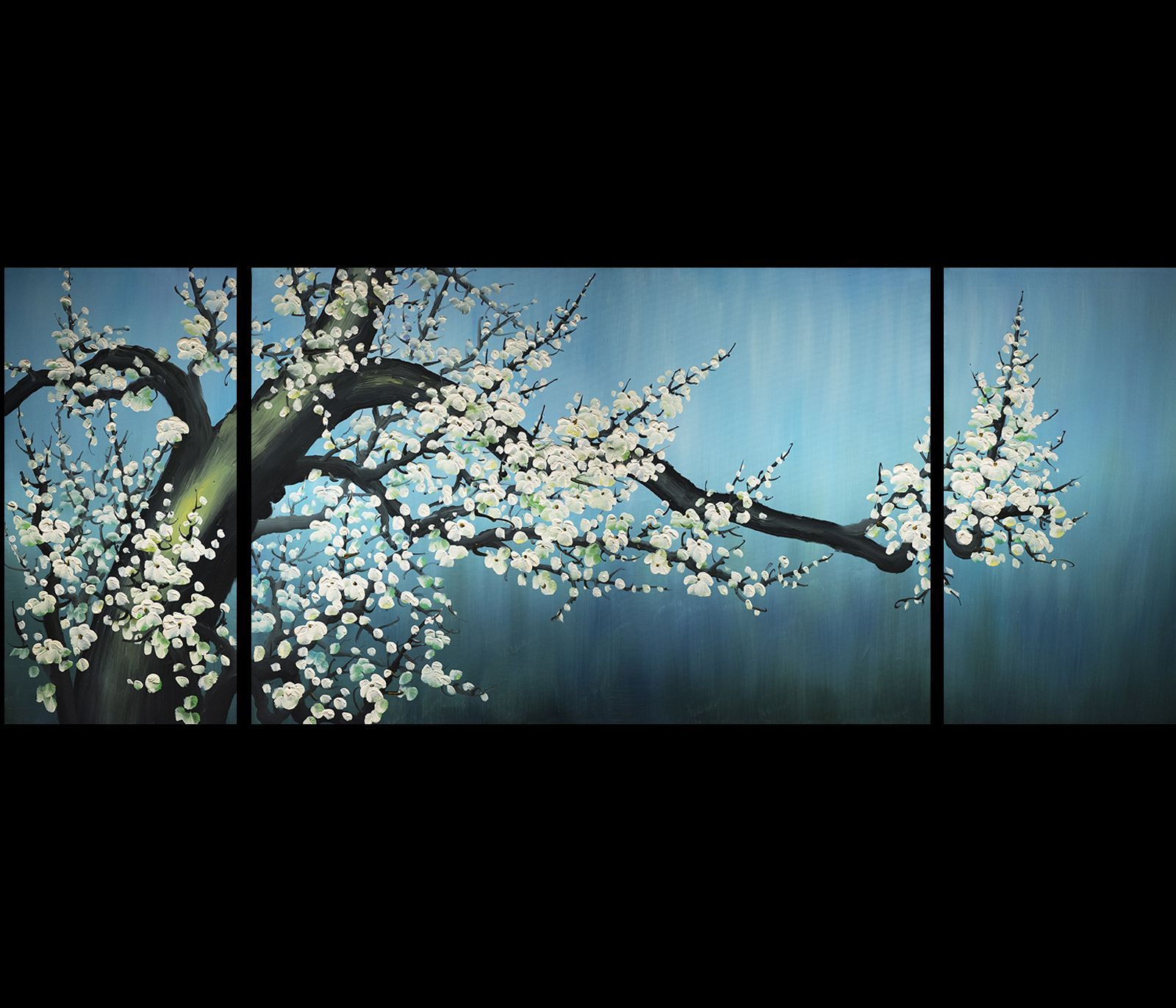 Cherry Blossom Canvas Wall Art abstract art cherry blossom painting canvas wall art stretched