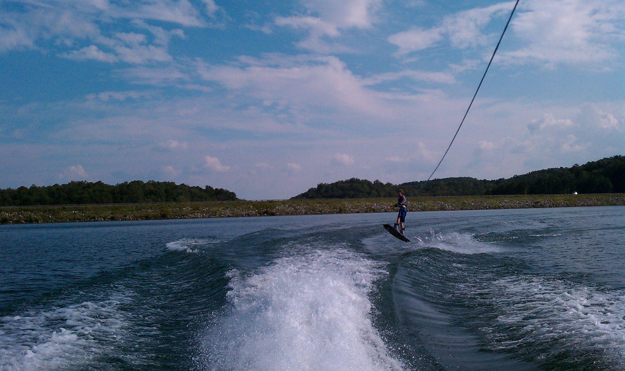SailAway Lake House wakeboarding jump
