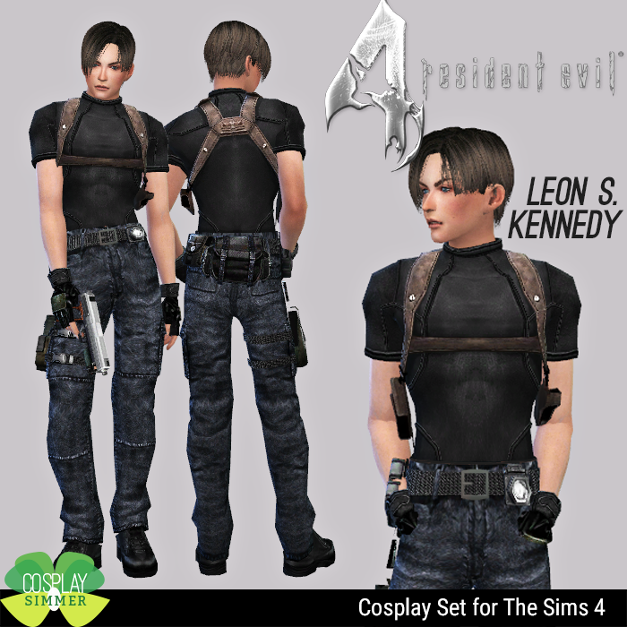 Resident Evil 4 Leon S Kennedy Cosplay Set For The Sims 4 By