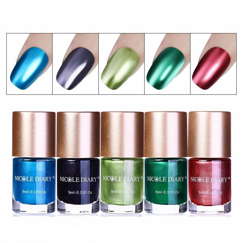 9ml Metallic Nail Polish (5 Colors) | Diva Nails | Pinterest ...