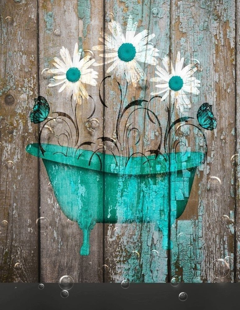 40 Spectacular Bathroom Picture And Wall Art Decor Ideas Teal Bathroom Decor Farmhouse Bathroom Decor Teal Bathroom Teal wall decor for bathroom