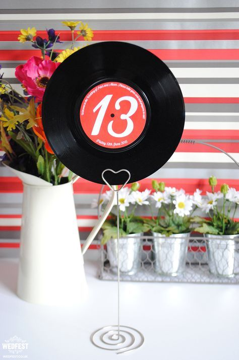 Vinyl records wedding centerpieces for Record decoration ideas
