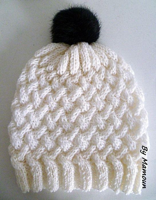 Bonnet femme tricot main en laine et alpaga le torsad - Comment faire des torsades au tricot ...