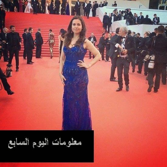صورة الإعلامية الجميلة ريا أبي راشد بفستان من اللون الأزرق الملكي في مهرجان كان Strapless Dress Formal Formal Dresses Long Formal Dresses