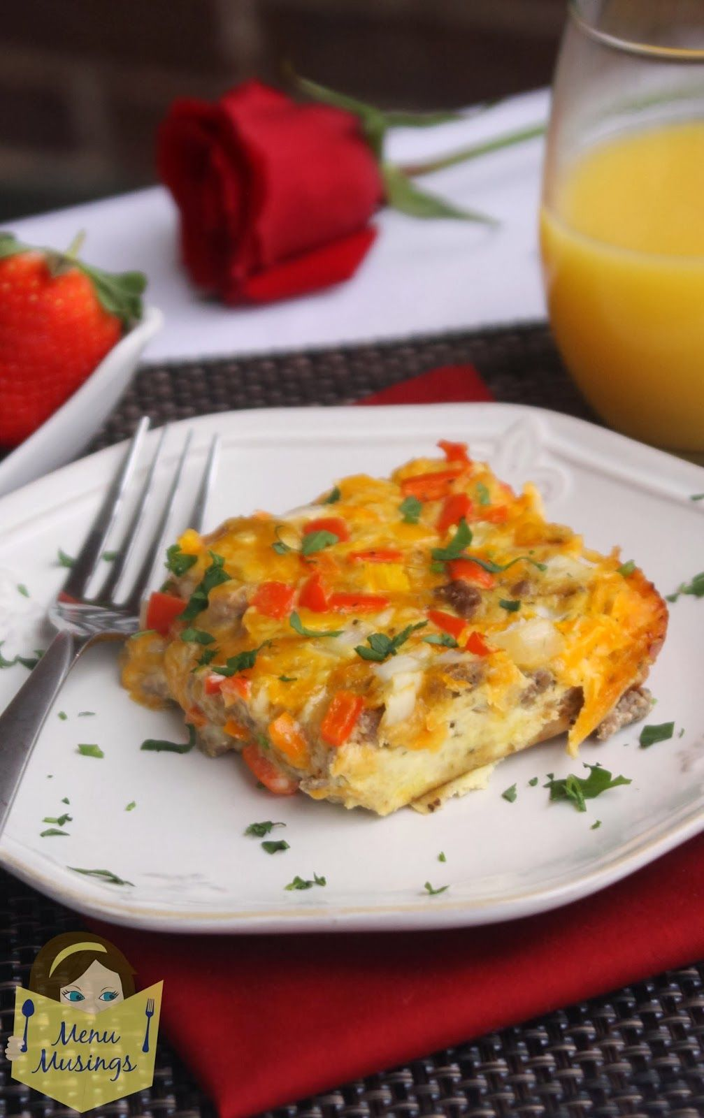 Breakfast Casserole - Super easy breakfast casserole that leave you looking like a superstar.  Perfect for when you have guests over. Tons of protein and can be made with lower fat turkey sausage.  Everyone wins! <3
