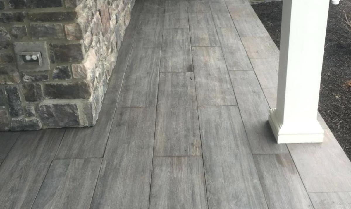 Porch Tile Ideas Front Faux 2 Wood