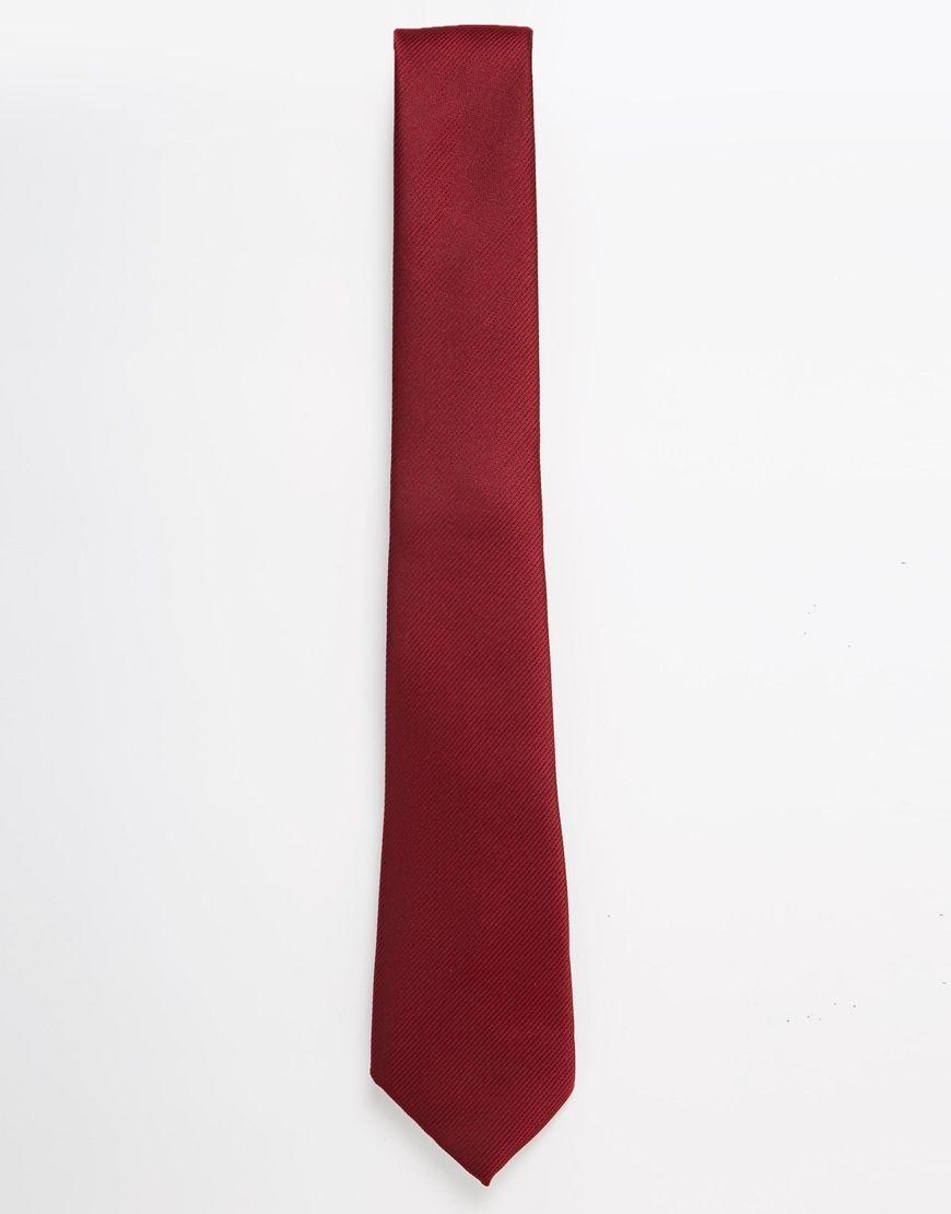 Krawatte von ASOS seidiger Stoff spitze Enden eine Schlaufe hinten Chemisch reinigen 100% Polyester Länge: 143 cm/56 Zoll