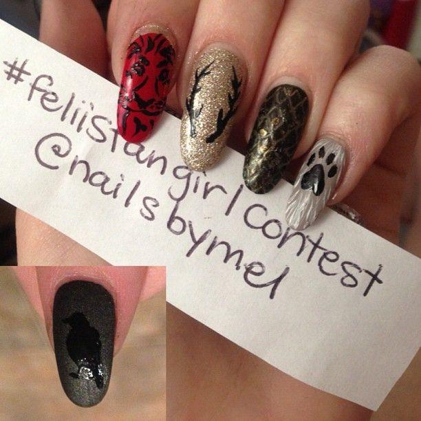 game of thrones nail art *.* | Nails | Pinterest | Gaming, Nails ...