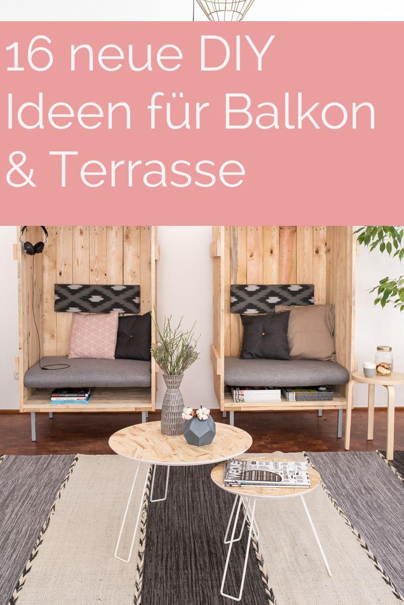 Diynstag 16 Kreativ Ideen Fur Balkon Und Terrasse Table Pinterest