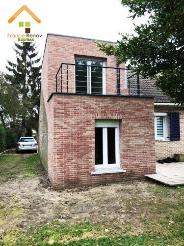 Transformation de garage en extension avec balcon comines extensions - Garage de la pilaterie wambrechies ...