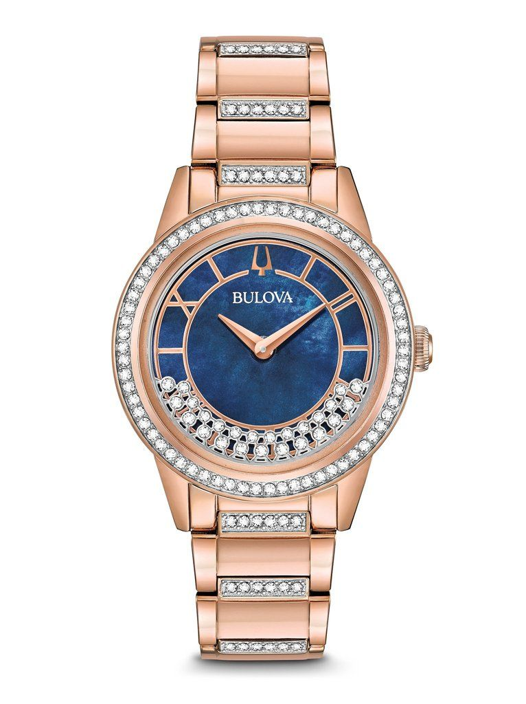 8fd03c701 BULOVA - Women's Crystal TurnStyle Watch 98L247- In rose Gold-tone  stainless Steel and