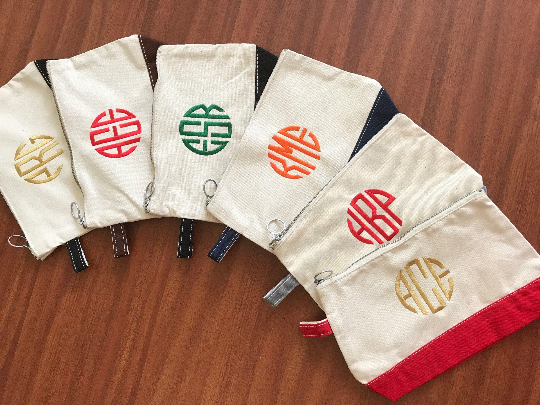 Custom Monogram Makeup Bag Monogrammed makeup bags