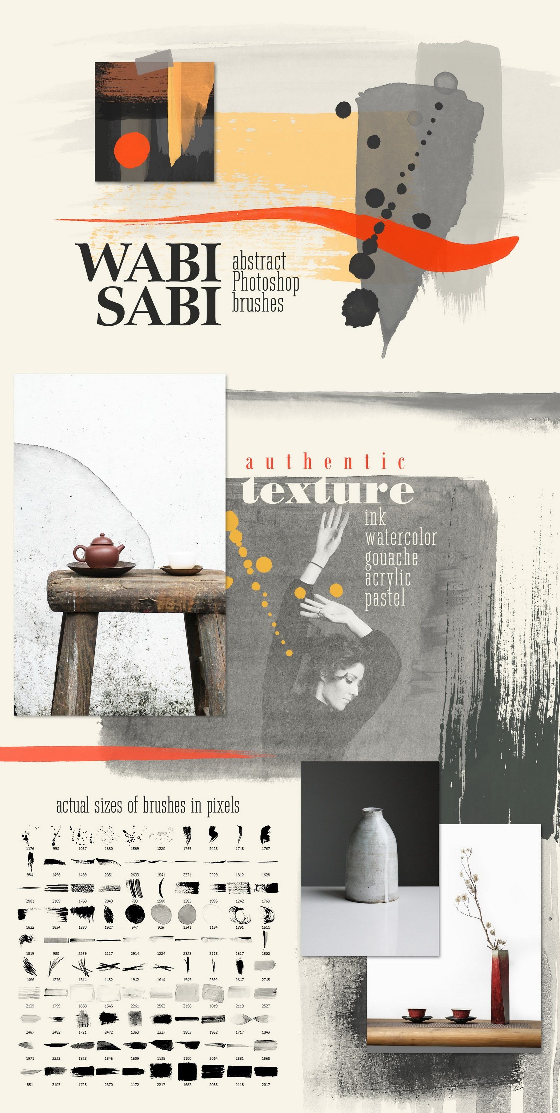 Wabi Sabi Photoshop Procreate Stamps Photoshop Abstract