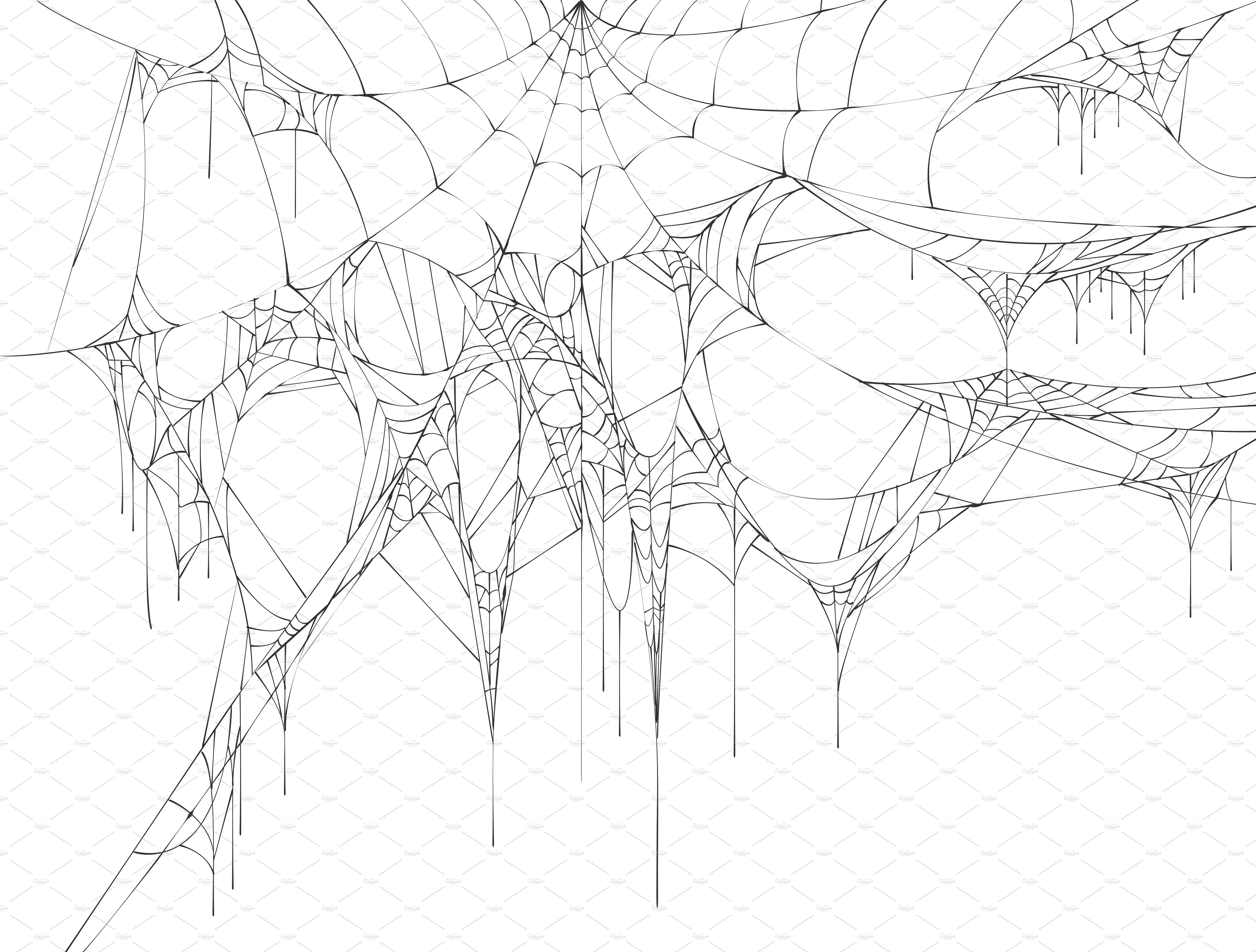 Set Of Spider Web For Halloween Web Tattoo Spider Web Drawing Spider Drawing