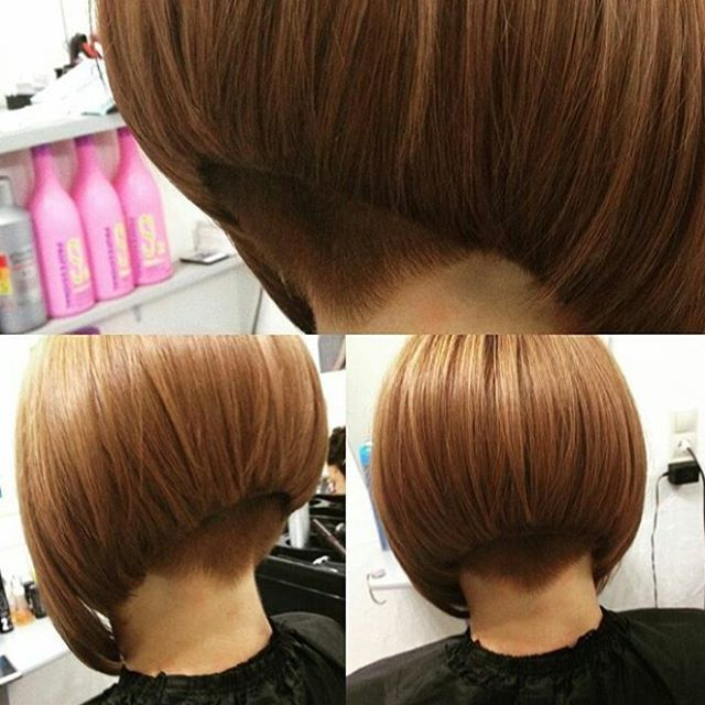 Credit To At Olgamoscowstyle Sleek Graduated Aline Bob With A Buzzed