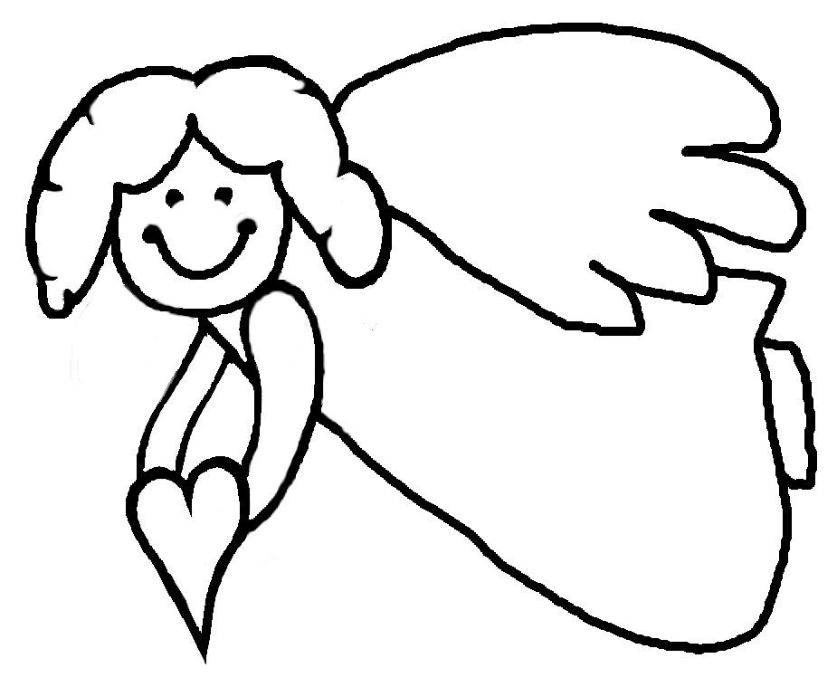 Angel Coloring Pages Beautiful Angel Printables Angel Templates