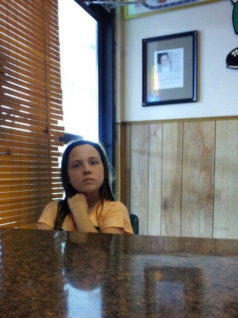 Savanna waiting for pizza