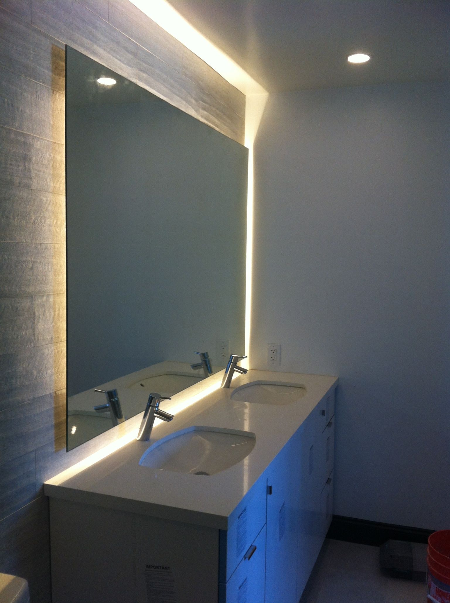Back Lit Mirror Clients Projects Pinterest Powder