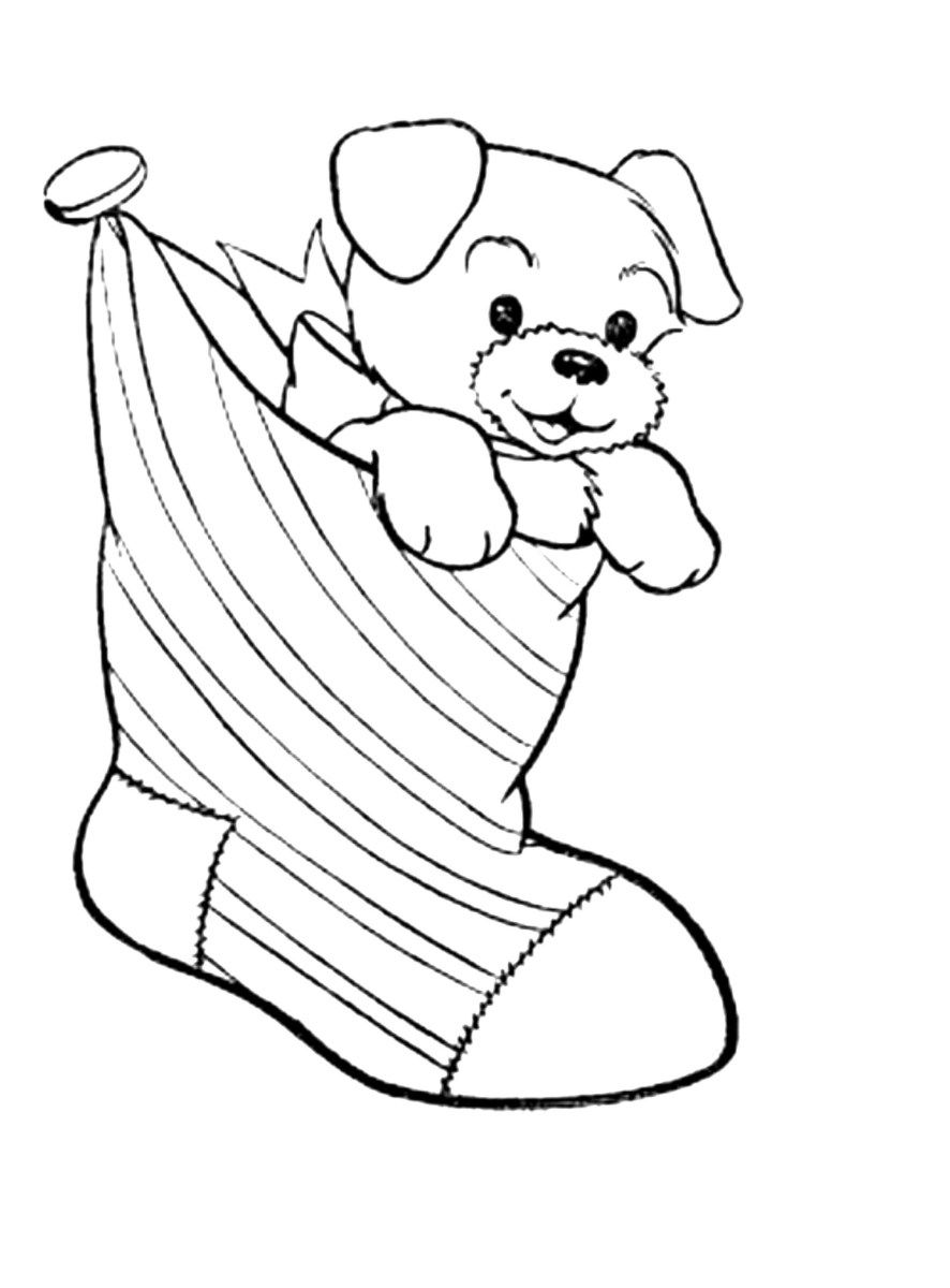 Christmas Coloring Pages Pdf Coloring Page Dog And Puppy Coloring