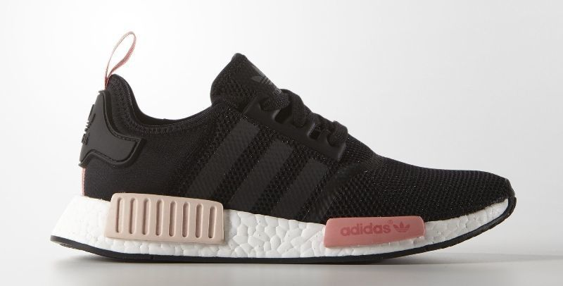 15565233cd6cc Adidas NMD R1(Core Black Core Black Peach Pink)