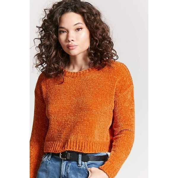 0df39e926 Forever21 Chenille Knit Sweater (€17) ❤ liked on Polyvore featuring ...