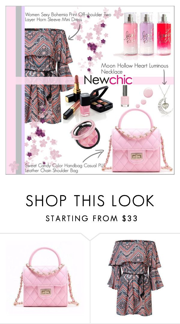 """pink"" by ena-ena ❤ liked on Polyvore featuring Chanel, chic, New and newchic"