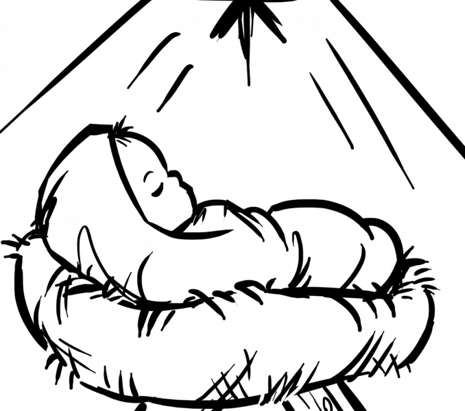 Baby Jesus Coloring Pages | Coloring-Christmas | Pinterest ...