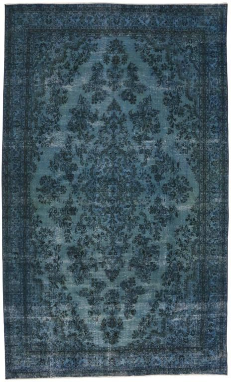 Overdyed Blue Persian Rug With Modern Industrial Style Gallery Rug From A Unique Collection Of Antique Blue Persian Rug Modern Persian Rug Modern Industrial