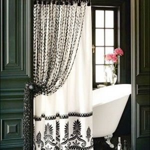 Batik Motif Black And White Shower Curtain Uk Awesome Classic