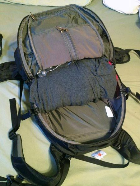 My carry on backpack with a bundle wrap
