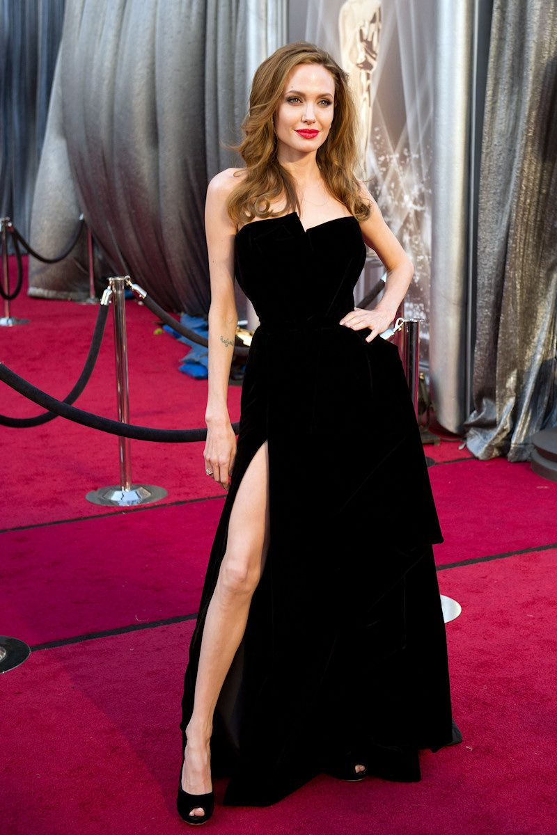 Image result for Angelina Jolie's Oscars dress, 2012