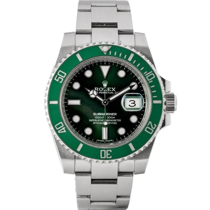 Rolex Submariner Green Ceramic Bezel Green Dial Hulk Stainless Steel 40mm (116610LV) - Incoming #stainlesssteelrolex