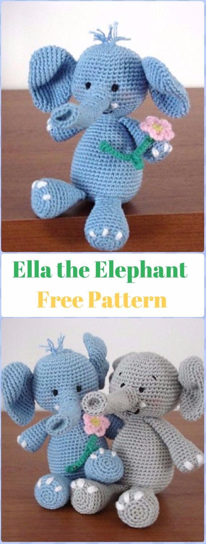 Crochet Ella the Elephant Free Pattern - Crochet Elephant Free ...