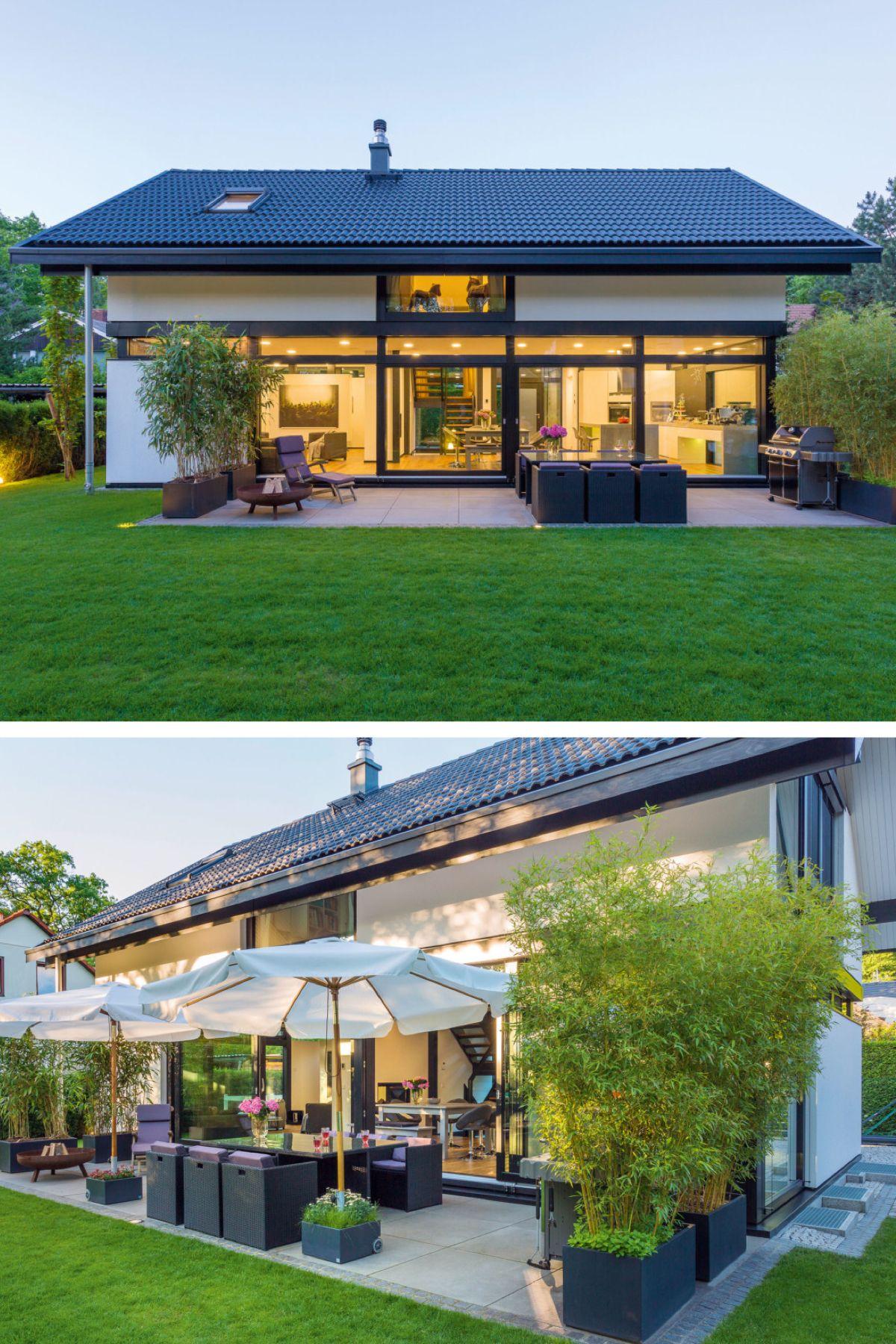 Fachwerkhaus Neubau modern mit Satteldach Architektur ...