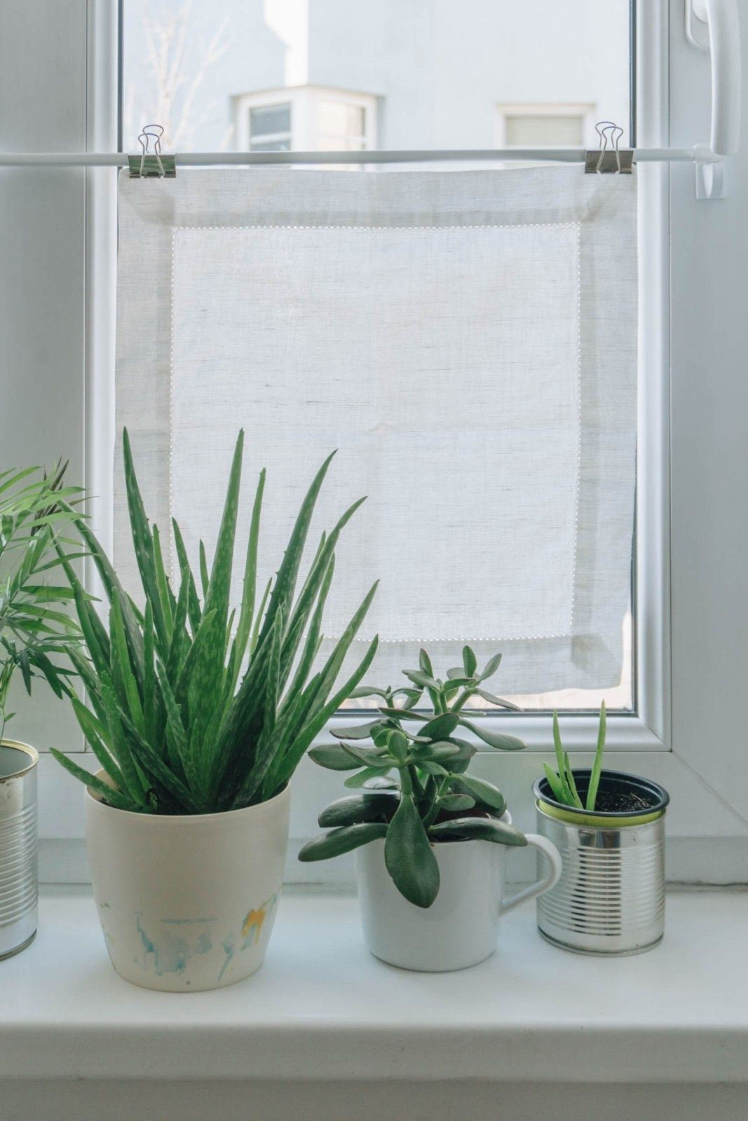 DIY Wohnzimmer DIY MiniFensterVorhänge als Sichtschutz