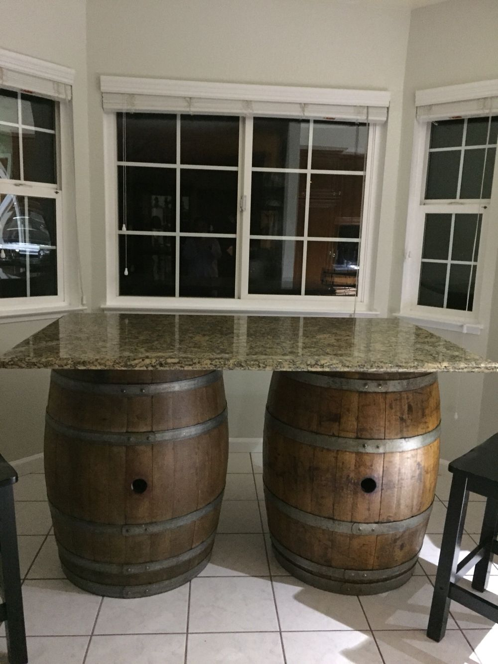 Wine Barrel Kitchen Table Wine Barrel With Granite Countertop Kitchen Island Wine Barrel