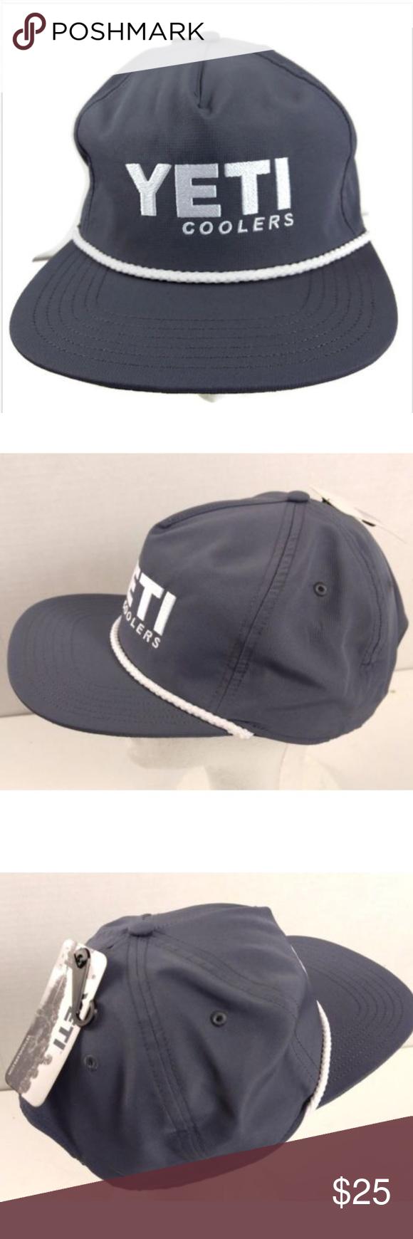 72c7bf0bf8bba Yeti trucker style rope hat slate grey Yeti coolers trucker style rope hat  slate grey snapback