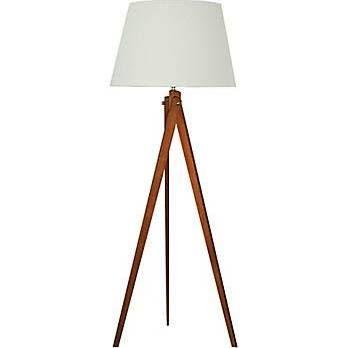 "Legacy Home Tri Pod Designer 63"" Height Wood Floor Lamp 19-2333"