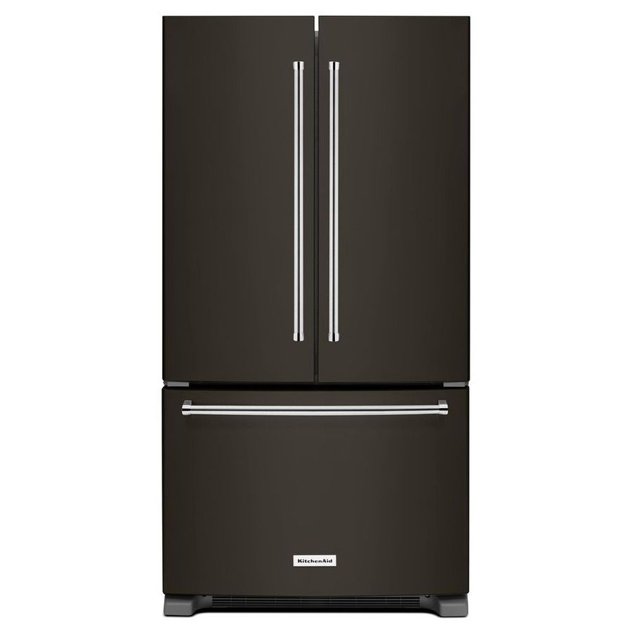 25 2 Cu Ft French Door Refrigerator With Single Ice Maker Black