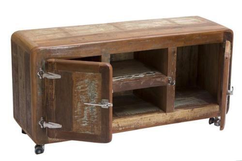 TV Board Lowboard Altholz Vintage B135cm 45kg NEU in