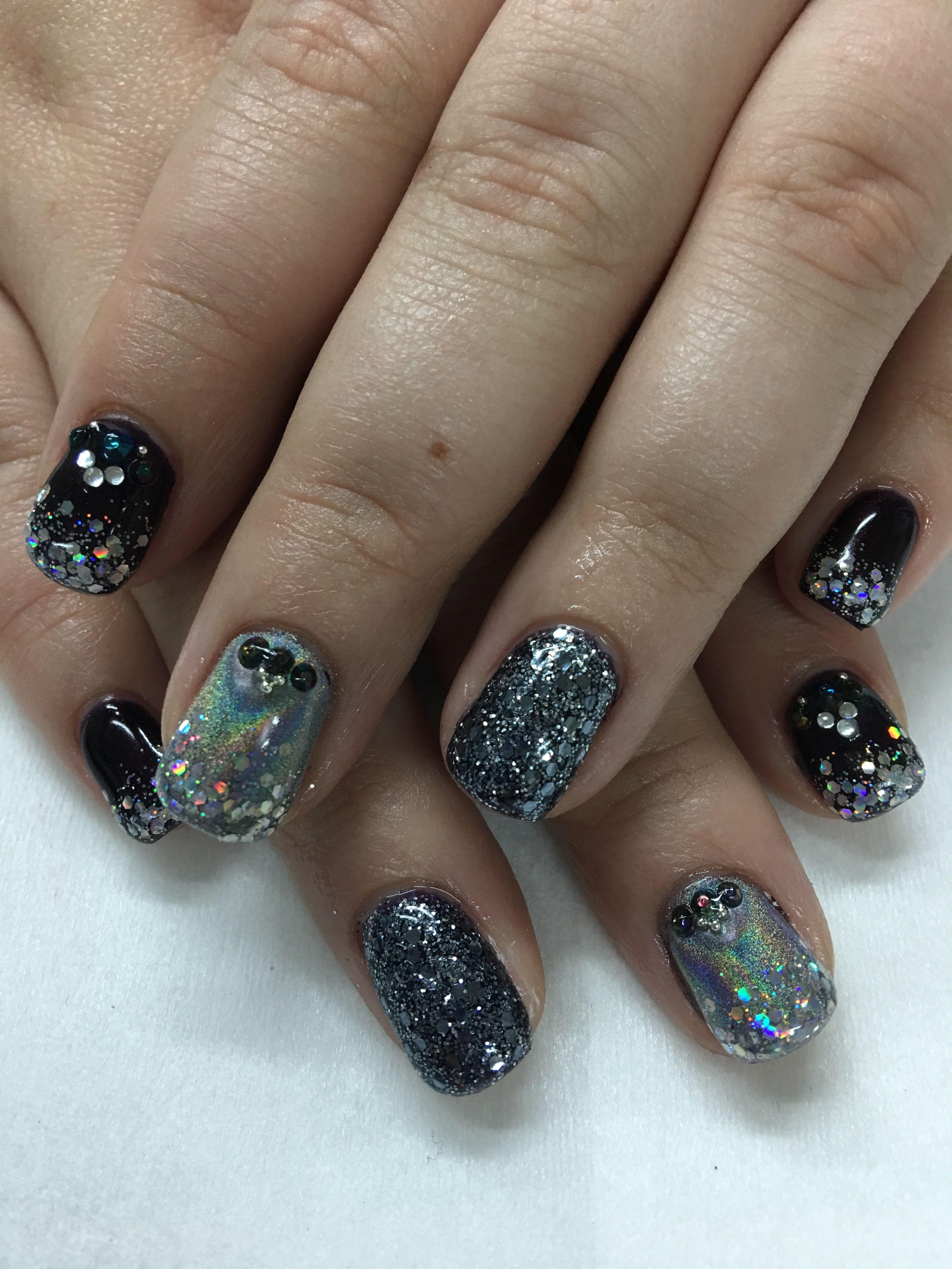 New Years Black & Light Elegance Glitter Gel Gun Metal Glitter Gel ...