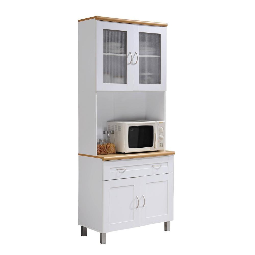 Microwave Shelf Tall Kitchen Cabinets