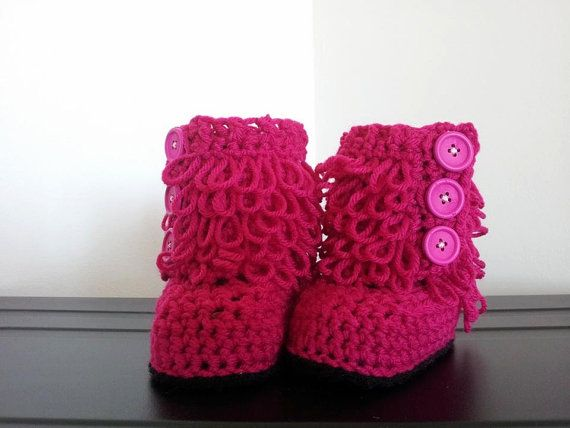 Crochet Booties by CreativelyCanadian on Etsy