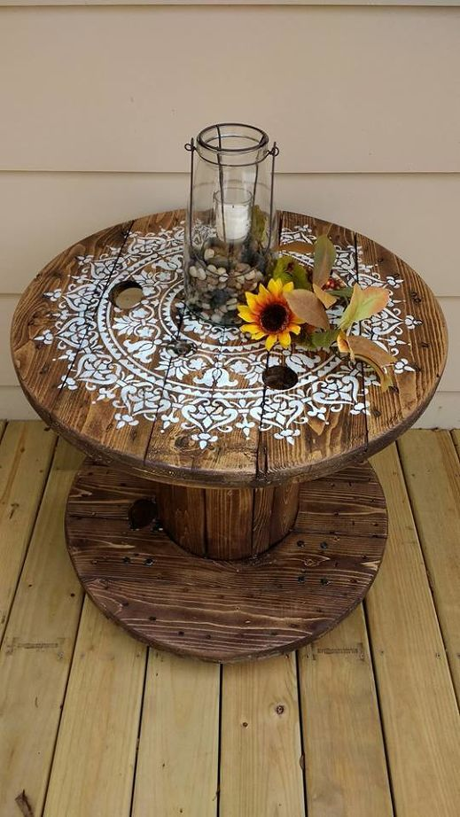 diy cable spool table for ummmm wherever Garden