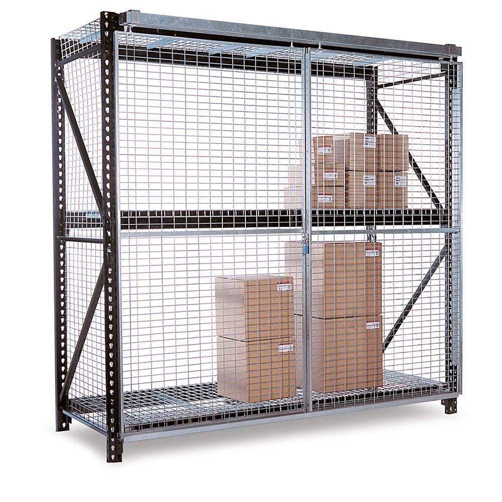folding guard pallet rack enclosure